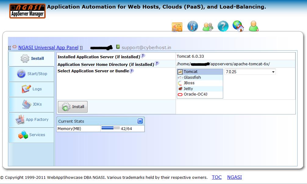 JSP hosting india Private JVM java server page hosting India Apache